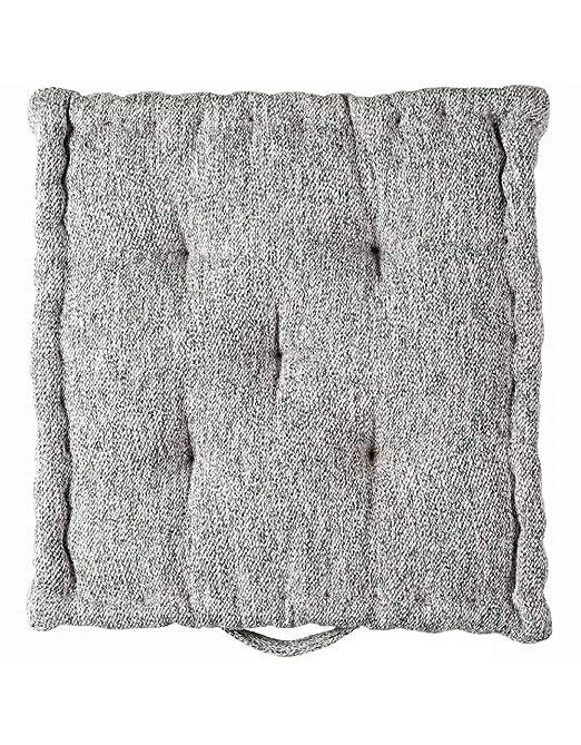 SENSEI La Maison du Coton cojín de Suelo Skye, Blanco, 50 x ...