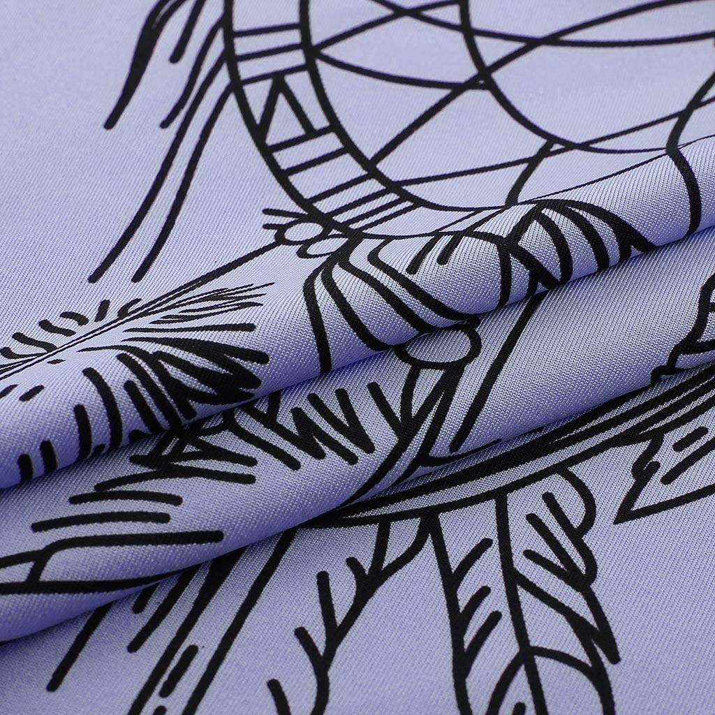 Alangbudu Women V Neck Long Sleeve Dreamcatcher Printed Pullover Casual Drawstring Sweatshirt Loose Tops Blouse Tunic