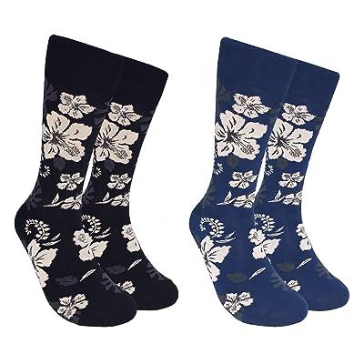 2 Pairs Men's Fun Novelty Socks - Floral