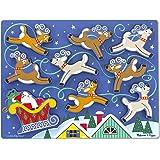 Melissa & Doug Santa's Sleigh Wooden Chunky Puzzle (9 pcs)