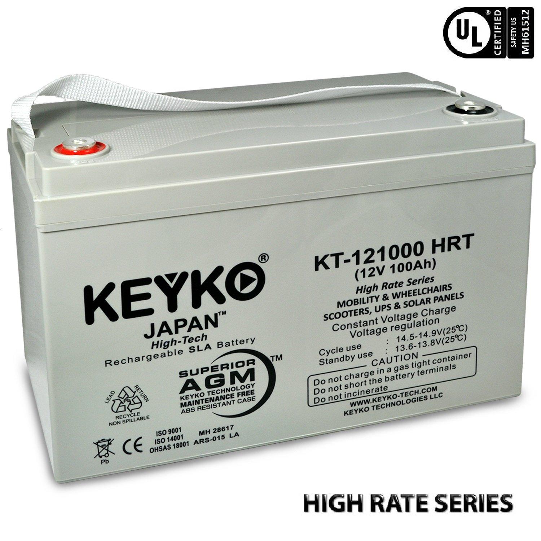 Amazon.com: 12V 100Ah REAL 100 Amp Deep Cycle AGM/SLA Battery for ...