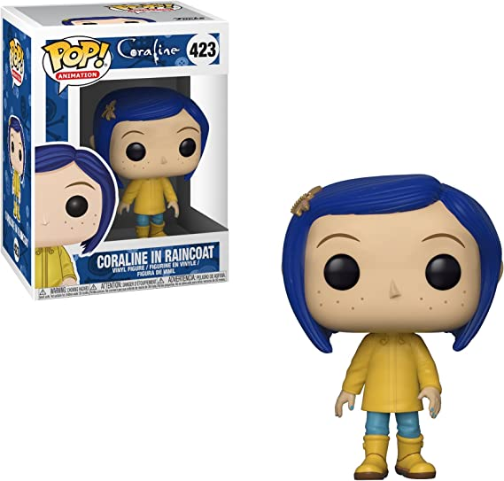 Amazon Com Funko Pop Movies Coraline Coraline In Raincoat Styles May Vary Collectible Figure Multicolor Toys Games