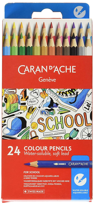 Caran dAche 24 Matite colorate acquarellabili con mina morbida 1290.724