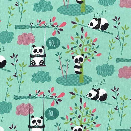 Textiles français Tela de algodón estampada - Los Pandas Lindos ...