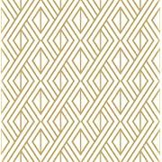 Marquis Diamond Geometric Wallpaper (Gold & White)