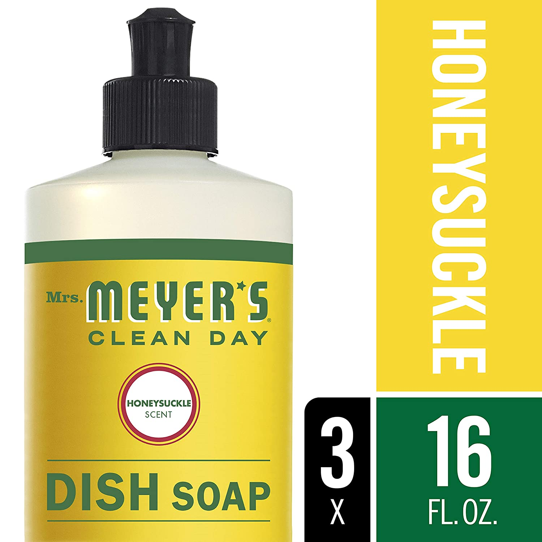 Mrs. Meyer's Clean Day Dish Soap, Honeysuckle, 16 fl oz, 3 ct Mrs. Méyers