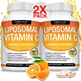 Liposomal Vitamin C 1800mg Pure Natural Supplement - High Absorption Fat Soluble VIT C Immune Support, Collagen Booster, Immu