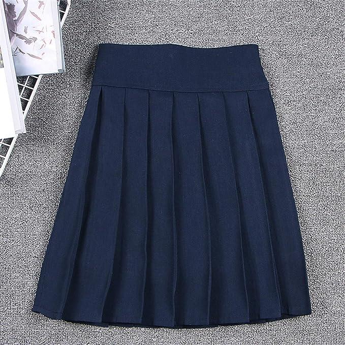 Amazon.com: MRxcff-Junior - Mini falda japonesa de cintura ...