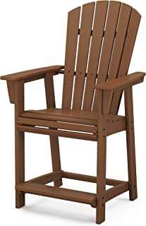 product image for POLYWOOD Nautical Counter Chair, Teak