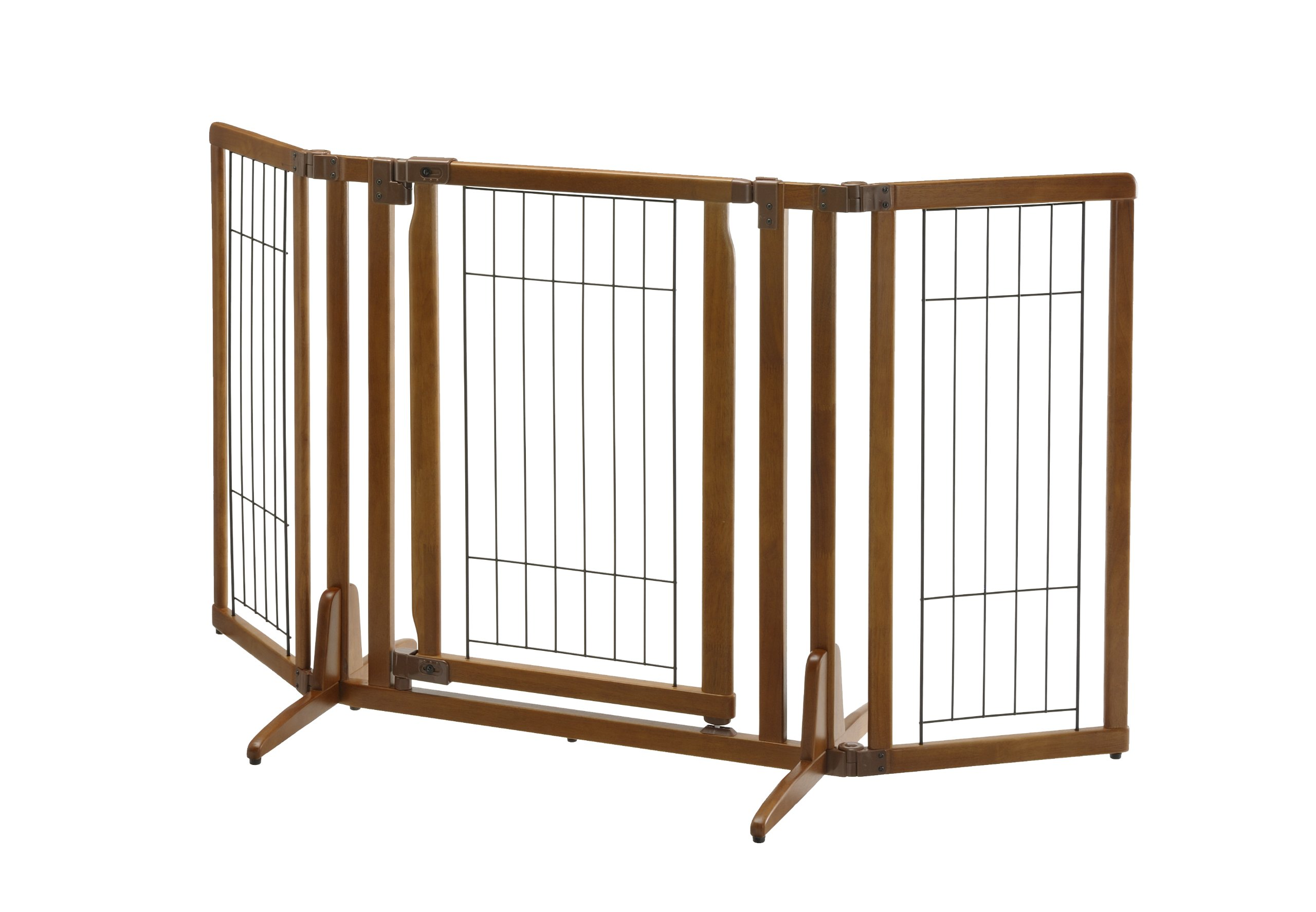 Amazon Com Richell Deluxe Freestanding Pet Gate With