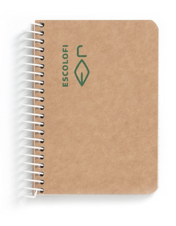 /Carnet /à spirale de Papier recycl/é /écologique Escolofi 130047500/ A7
