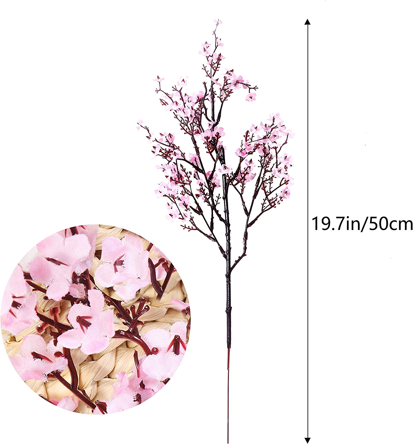 Bule) Momkids 6 Pcs Babies Breath Flowers Artificial Gypsophila Bouquet Faux Silk Flower Fake Real Touch Flower for Hotel Home Living Room Kitchen Bathroom Wedding Party DIY Decor