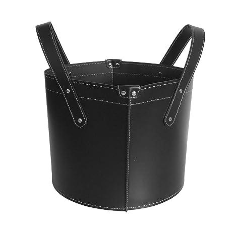 GARDA: Bolso, cesta para leña o pellets, en cuero regenerado ...