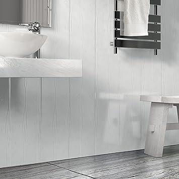 panneaux muraux en pvc pour salle de bain effet bois blanc mat multicolore - Pvc Pour Salle De Bain