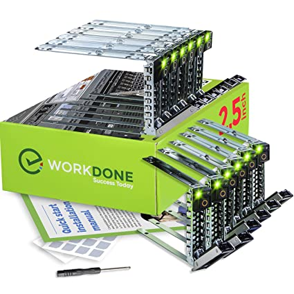 WorkDone 12-Pack 2 5-inch R440 R640 R740 R740xd R840 R940 R6415 XC Drive  Caddy - Bright LED Tray - Compatible for 14th Gen Dell PowerEdge Servers -
