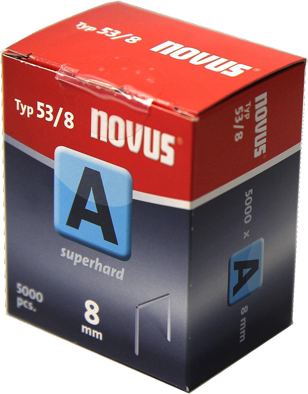 Novus Feindrahtklammern superhart 10 mm f/ür Stoff und Holz 1000 Tacker-Klammern vom Typ 53//10 aus Stahldraht