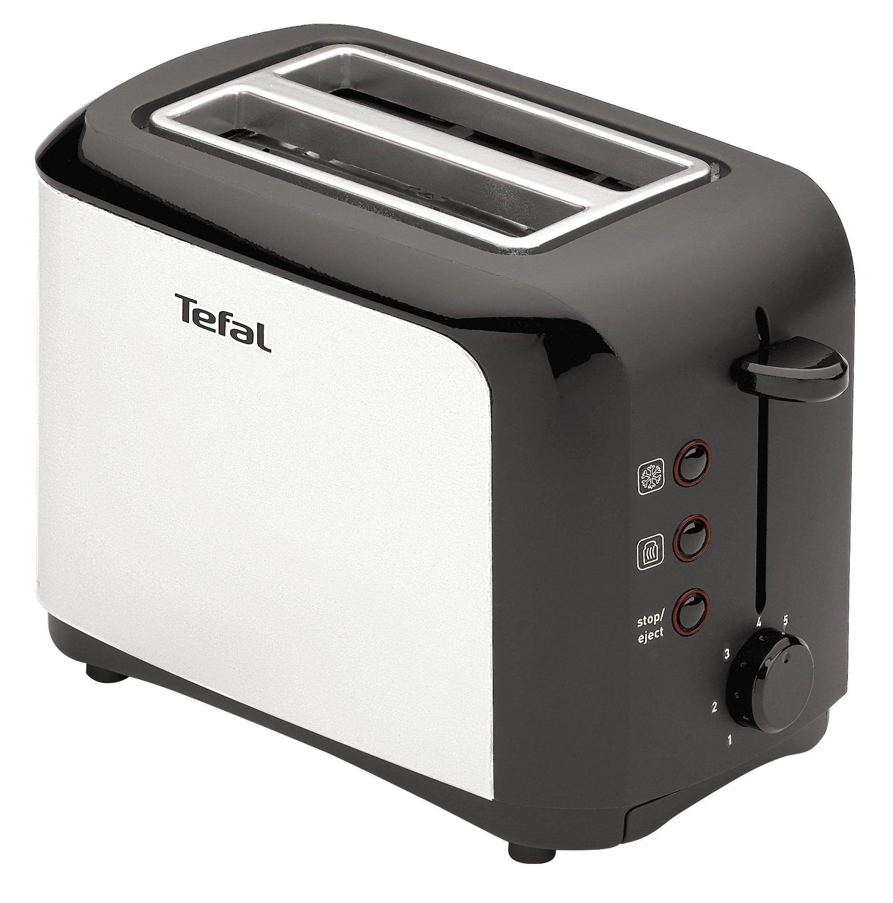 Tefal TT356110 Grille-pain 2 fentes Toaster Express Décongélation Réchauffage 7 Niveaux de Dorage 850W Inox et Noir product image