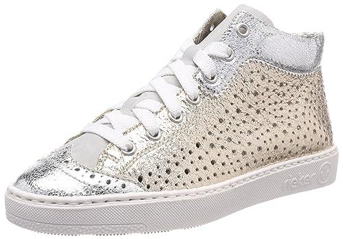 Rieker Schuhe Gr.41 Silber Gold wie neu
