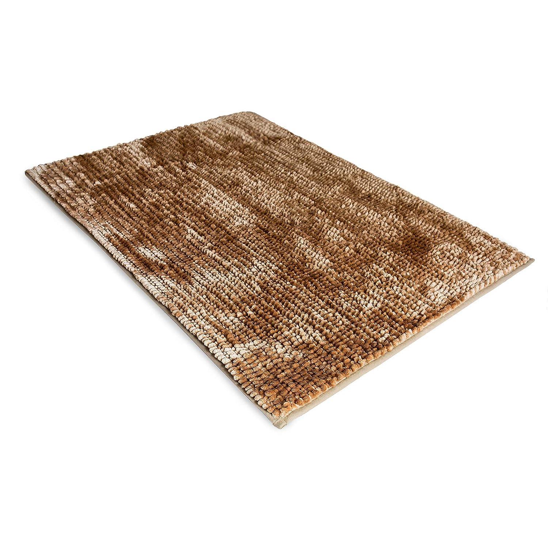 10 Couleurs Rayonnantes Beige Tapis de Douche Tapis Salle de Bain Antid/érapant casa pura Tapis de Bain Chenille 50x80 cm Standard Oeco Tex