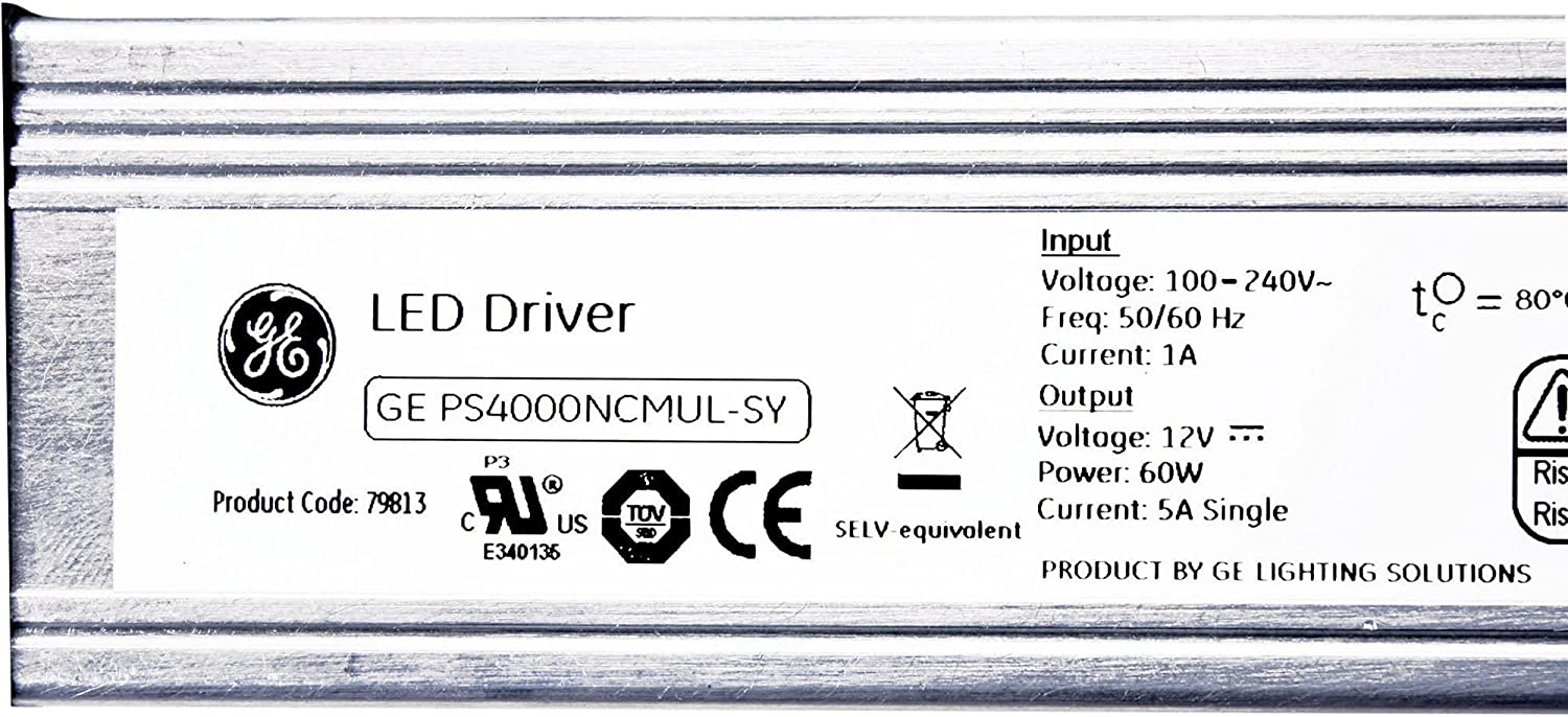 GE LIGHTING 79813 GEPS4000NCMUL-SY IMMERSION REFRIGERATED LED DRIVER 12 volt 60w