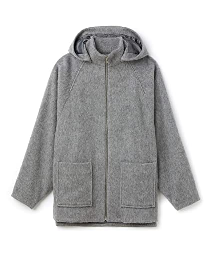 af7f35a81 Lacoste Women s Hooded Coat Grey in Size Small  Amazon.co.uk  Clothing