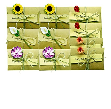 10 PCS Greeting Card Wish Gift Holder Thank You Notes Birthday Party Invitation