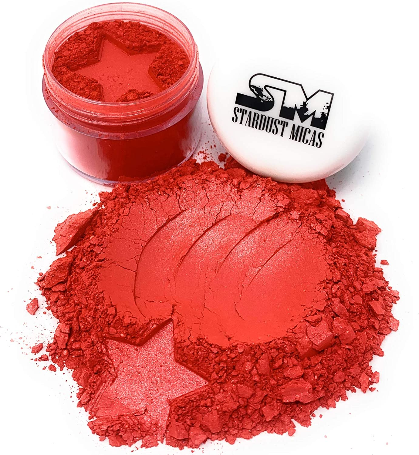 True Red Mica Pigment Powder for Cold Process Soap Making, True Red Color Pigment Powder Colorant, Color Stable Non-Bleeding, Red Pigment Powder for Resin, Stardust Micas (Truly Red, 10 Gram Jar)