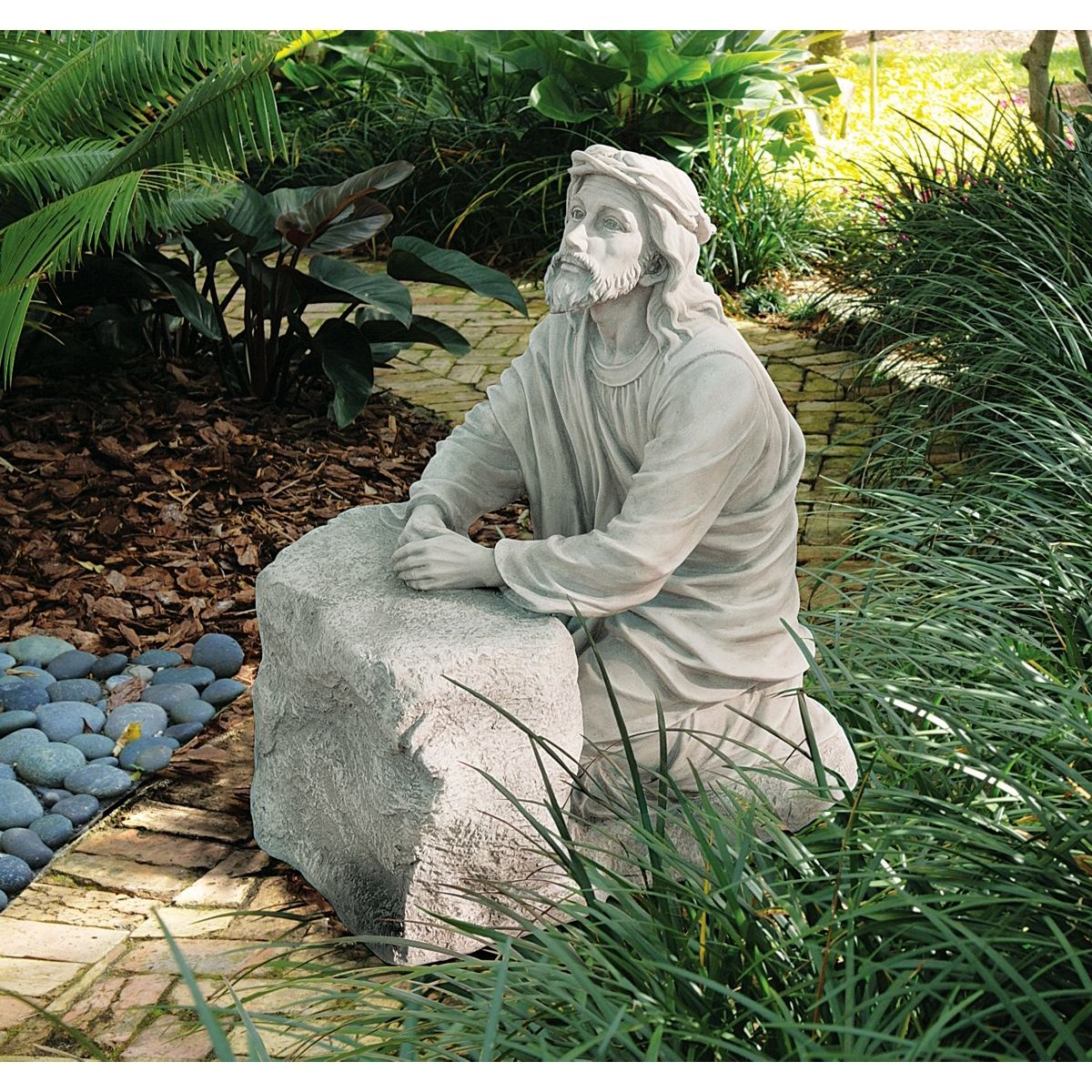 Praying Jesus Christian Home Garden Statue Sculpture