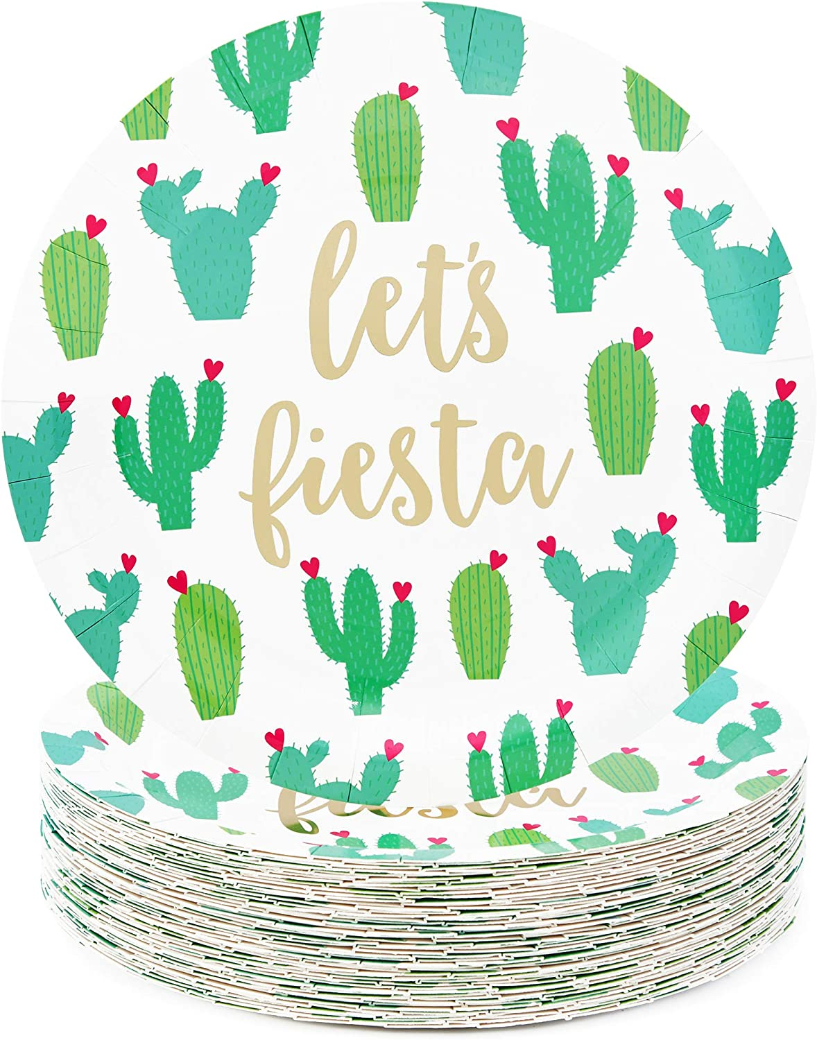 Cinco De Mayo Party Supplies, Let's Fiesta Plates (9 in., 48 Pack)