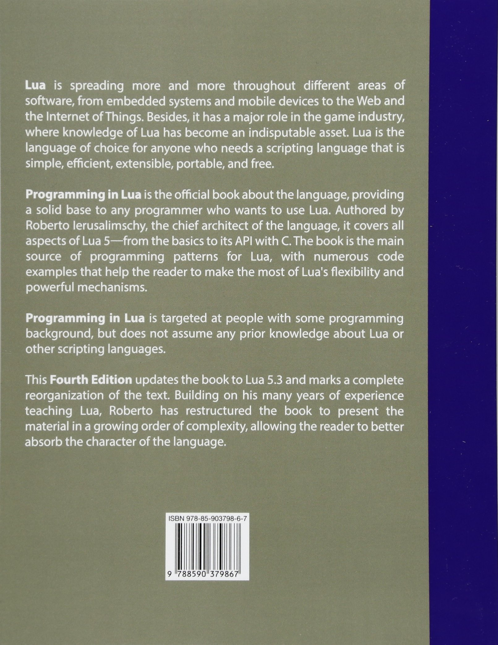 Programming in lua fourth edition 9788590379867 computer programming in lua fourth edition 9788590379867 computer science books amazon baditri Gallery