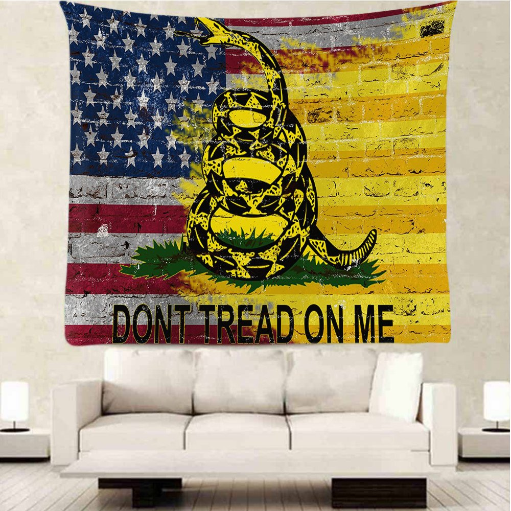 Amazon.com: Don\'t Tread on Me American Flag Wall Tapestry Graphic ...