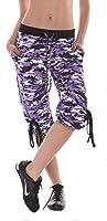 Margarita - Designer Activewear - Purple Camo Capri