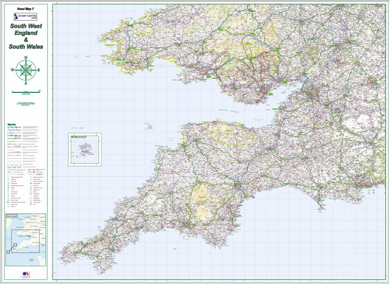 Road Map 7 South West England South Wales Colour Standard