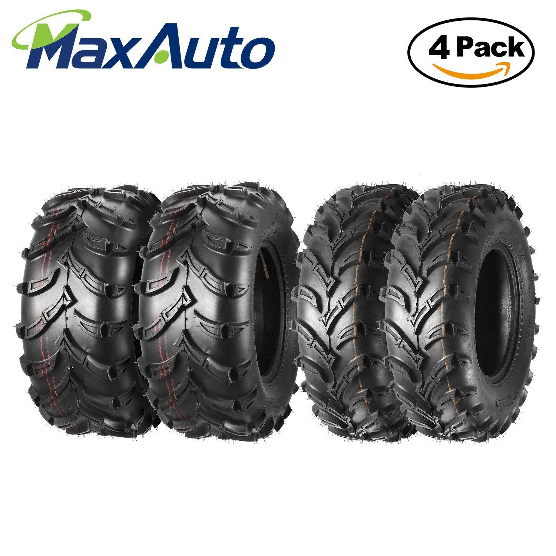 Set of 4 Sport ATV Tires 22x7-10 22x7x10 Front & 22x10-10 22x10x10 Rear 4PR Load Range B PartsSquare