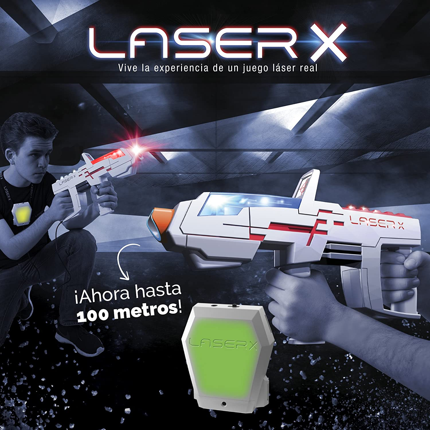 Laser X Pistola Largo Alcance (Cife 98139), Color Blanco y Gris Spain