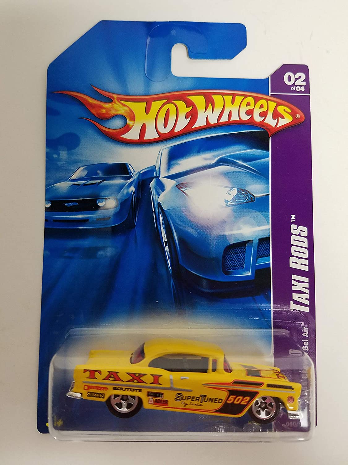 1955 Chevy Bel Air 2007 Taxi Rods 2 of 4 Hot Wheels diecast car No. 050