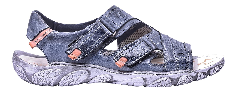 Vogar Sandalias Hombre Cuero Calzado Verano Zapatos Playa VG1122 EU 46 / 31.1 cm|Azul Marino