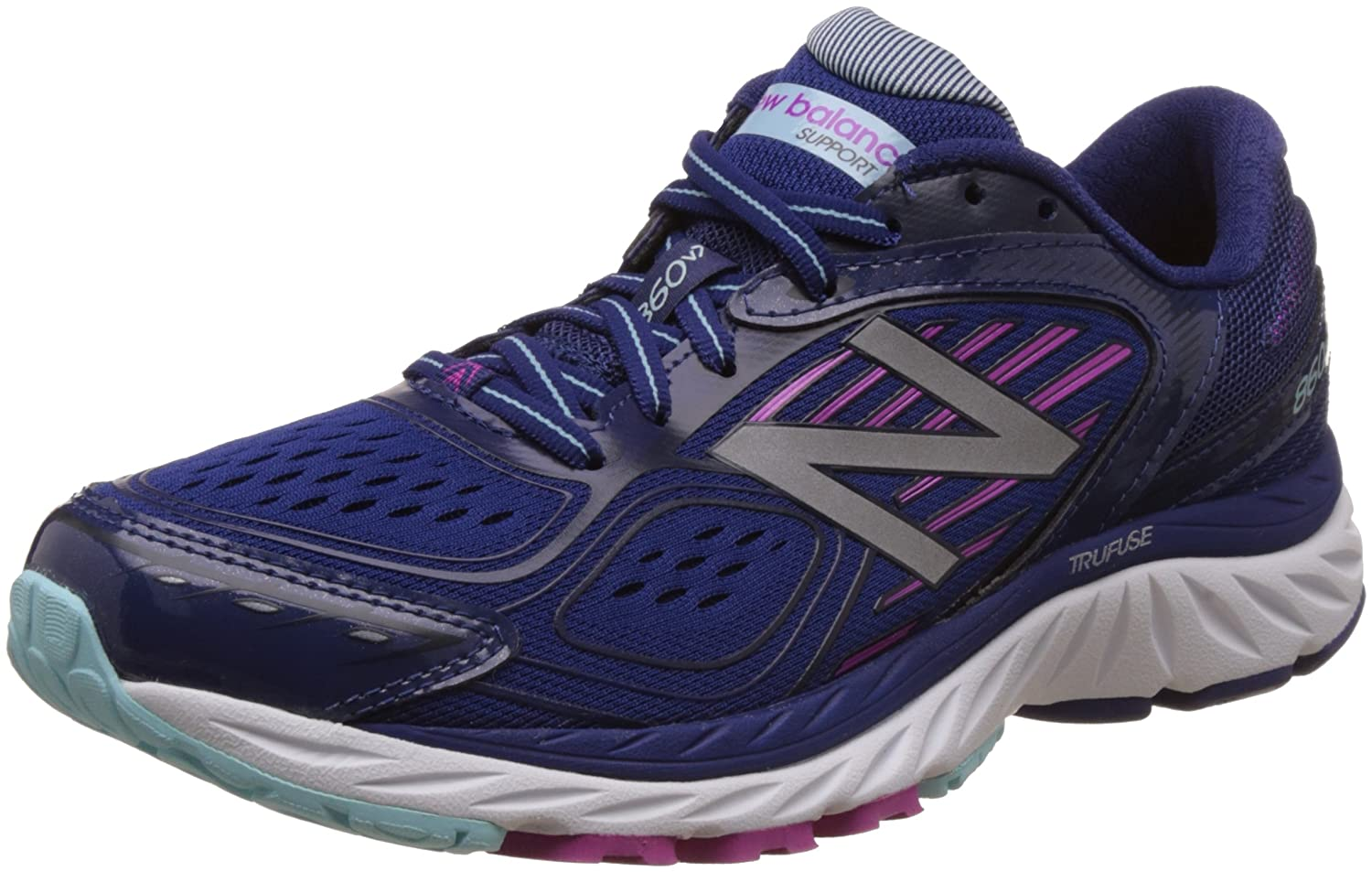 New Balance Women's W860bp7 B01M1D1AXR 5 D US|Blue/Purpl