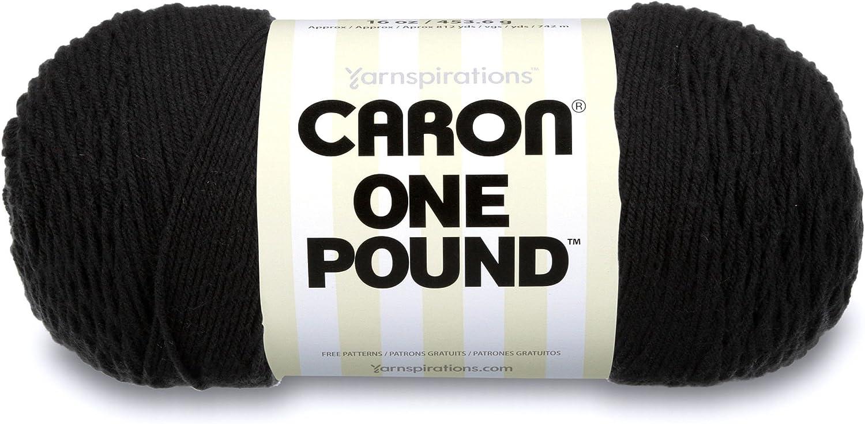 Medium Gauge 100/% Acrylic Caron  One Pound Solids Yarn - 1 Piece Pink- For Crochet 16 oz Knitting /& Crafting 4