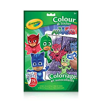 Crayola Colouring & Sticker Book PJ Masks