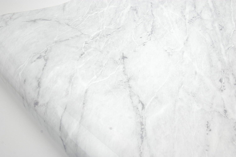 Grey Marble VeryBerrySticker Granite Look Marble Effect Contact Paper Film Vinyl Self Adhesive Peel-stick Counter Top 4 x 8.2ft