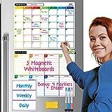 MASON WEST Magnetic Dry Erase Calendar For Refrigerator | To-do List magnetic calendar for refrigerator | Fridge Calendar Whi
