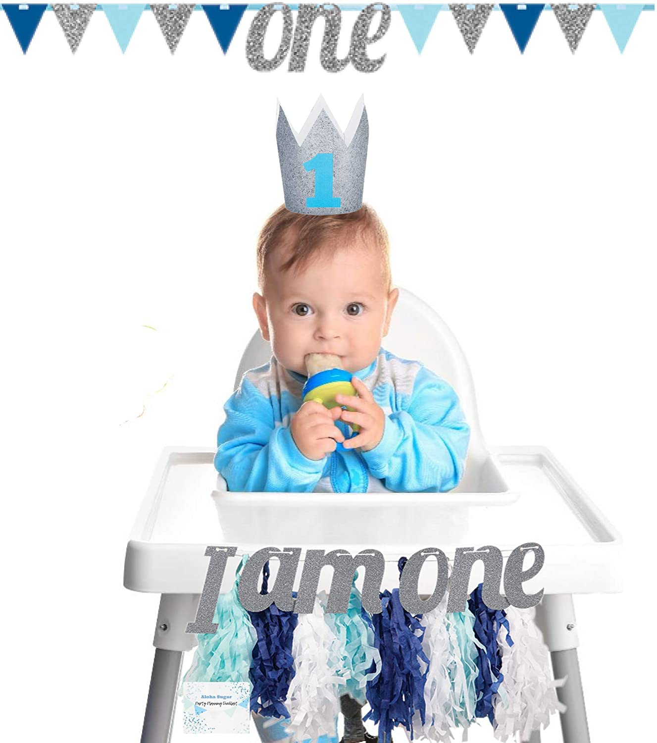 Amazon 1st Birthday High Chair Decorations Baby Boy