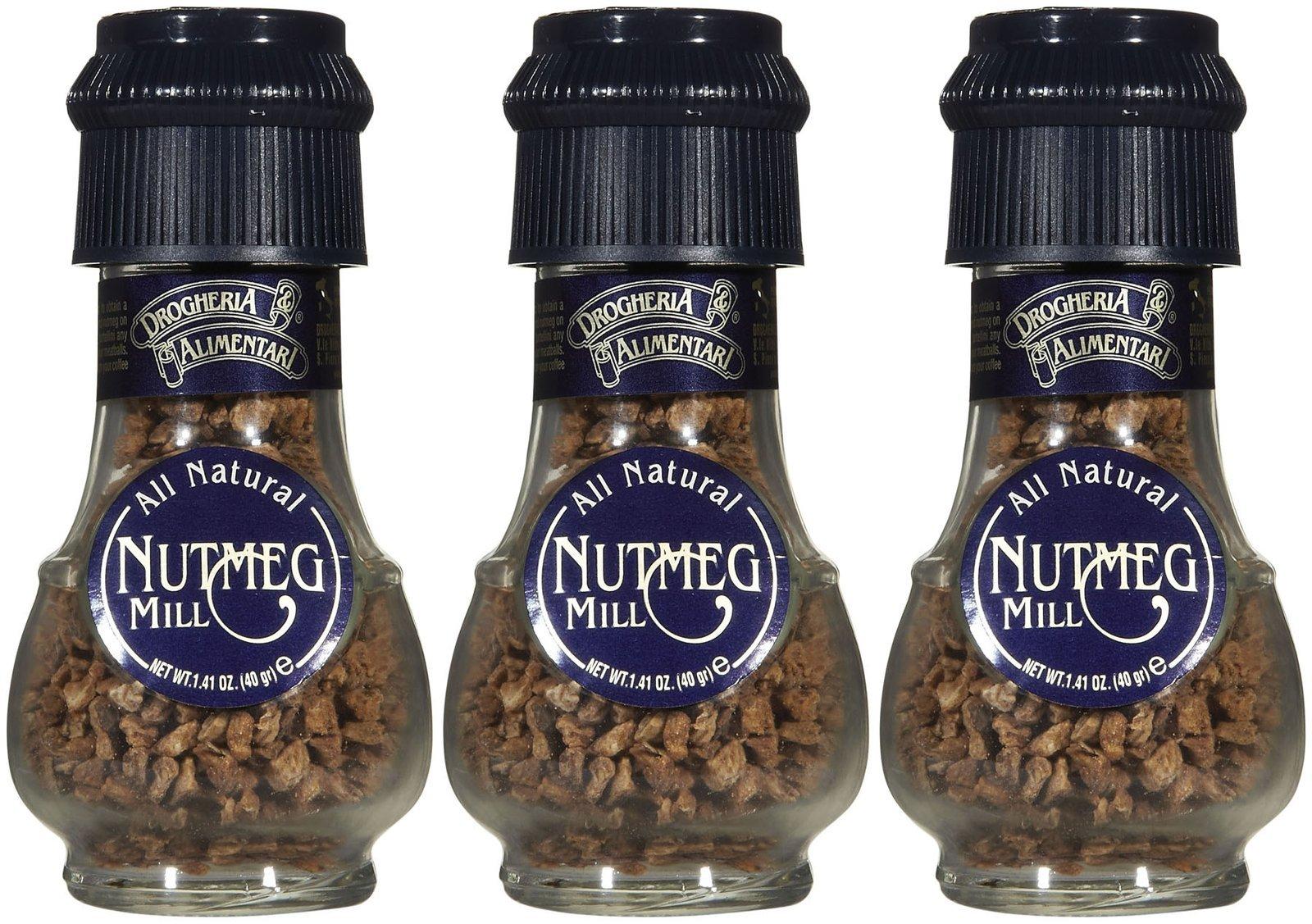 Drogheria & Alimentari All Natural Spice Grinder Nutmeg, 1.41 oz Jars, 3 pk