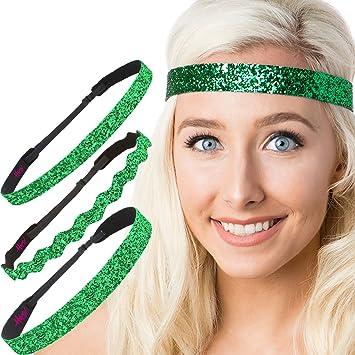 Amazon.com  Hipsy Women s Adjustable NO SLIP Bling Glitter Headband ... 729baab0a19