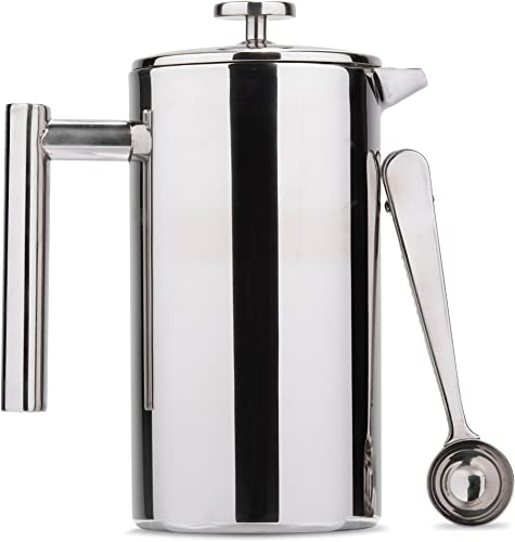 Es Perto Stainless Steel French Press Coffee Maker 34 Ounce