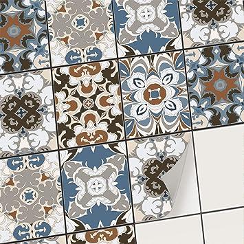 Horta 36 PIECES carrelage adh/ésif 10x10 cm Adh/ésive d/écorative /à carreaux pour salle de bains et cuisine Stickers carrelage collage des tuiles adh/ésives PS00025-P