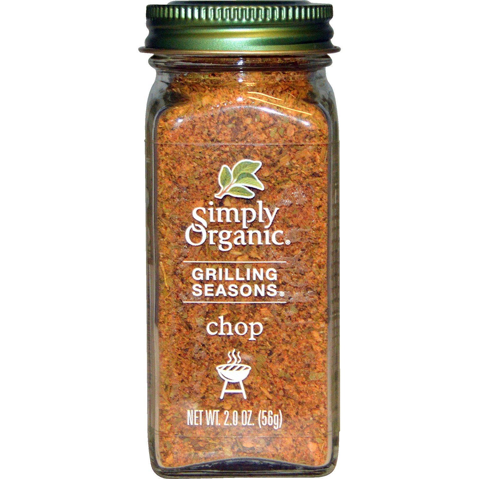 Simply Organic, Organic Grilling Seasons, Chop, 2.0 oz (56 g) Simply Organic, Organic Grilling Seasons, Chop, 2.0 oz (56 g) - 2pcs