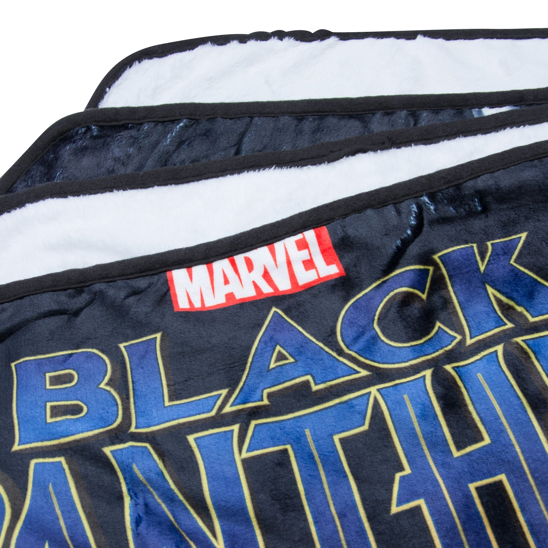Marvel Black Panther Fleece Blanket - Officially Licensed Marvel Black Panther Movie Soft Silk Throw Bed Blanket by Marvel (Image #4)