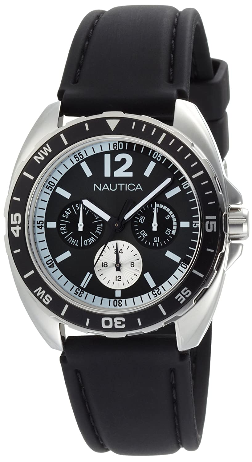 Amazon.com: Nautica Mens N09910G Sport Ring Multifunction Black Box Set Watch: Nautica: Watches